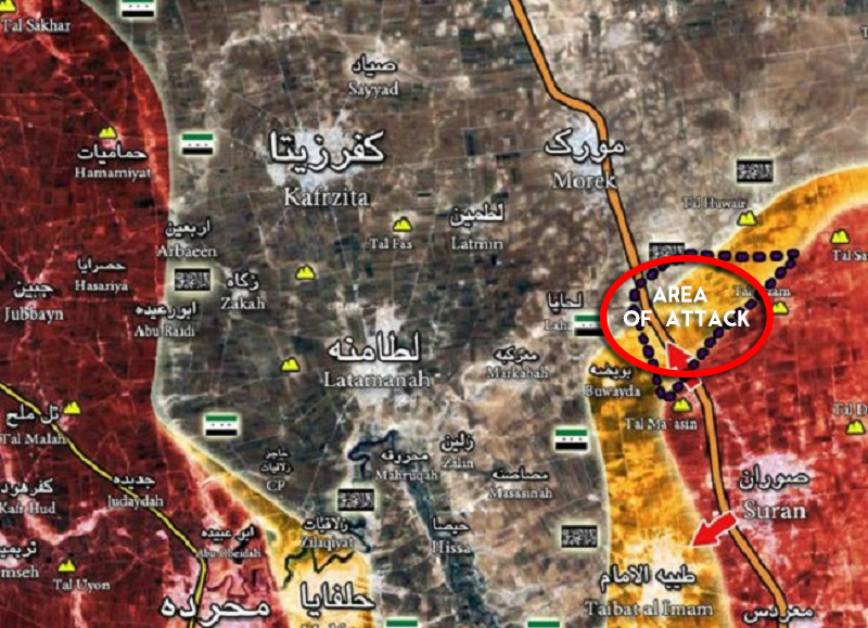 Syrian Army Repels Militants Advance South of Morek