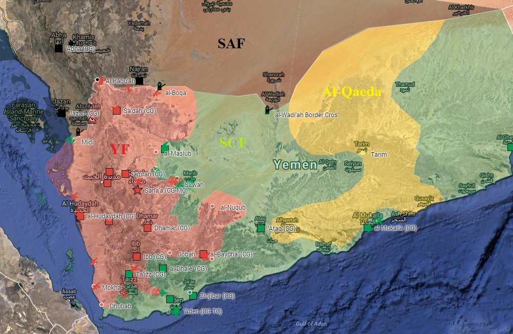 Houthi-Saleh Forces Continue Crossborder Attacks on Saudi Arabia
