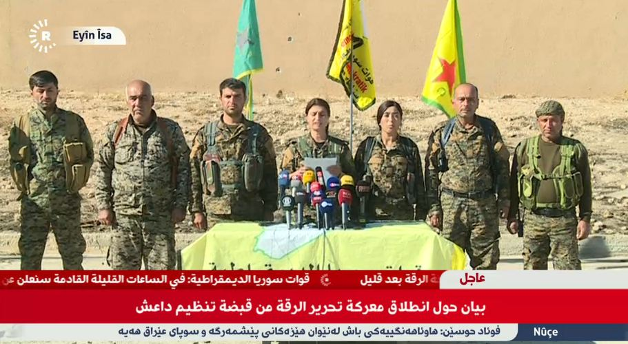 US-backed SDF (YPG) Starts Operation to Liberated ISIS Self-Proclaimed Capital in Syria
