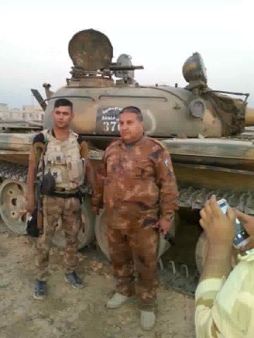 Iraqi Army Seized Syrian T-55 Battle Tank near Mosul (Photos)