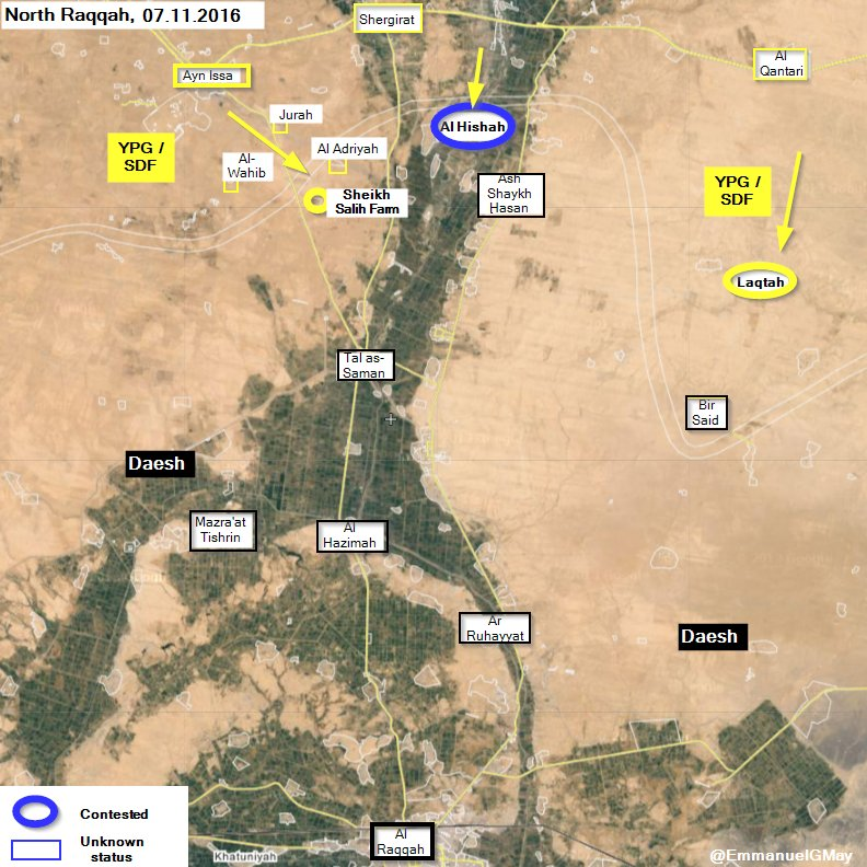 Kurdish Forces Seize more Areas from ISIS North of Raqqa
