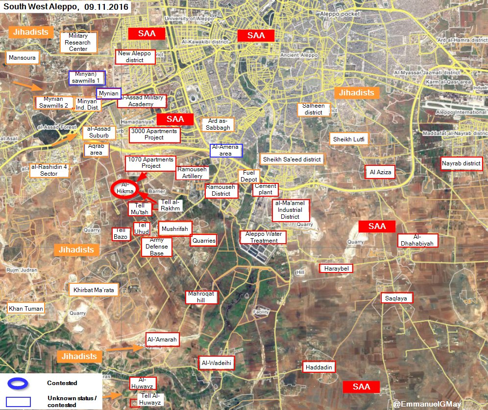 Syrian Army Liberates Strategic Area of Al-Hikma in Southwestern Aleppo