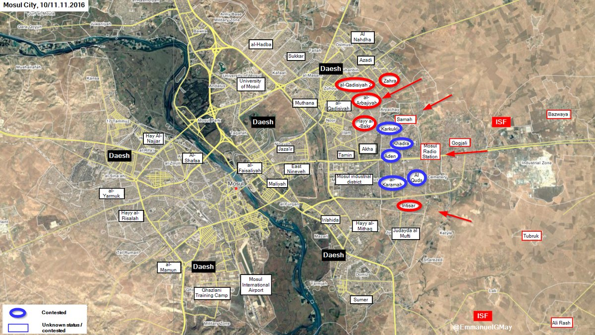 Iraqi Security Forces Made Gains in Eastern Mosul