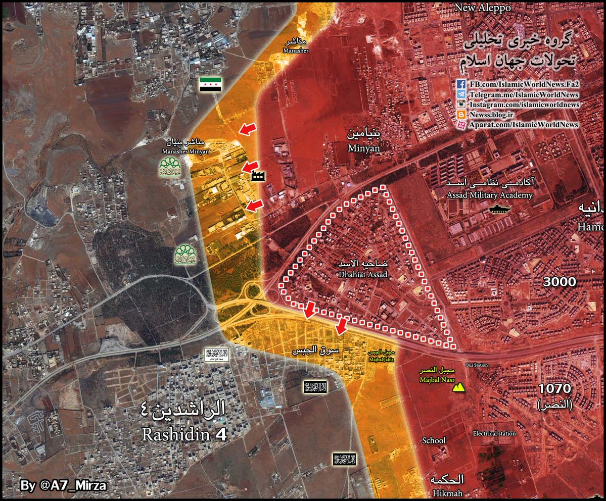 Overview of Military Situation in Aleppo City on November 12, 2016: Govt Forces Liberate More Areas in Western Aleppo