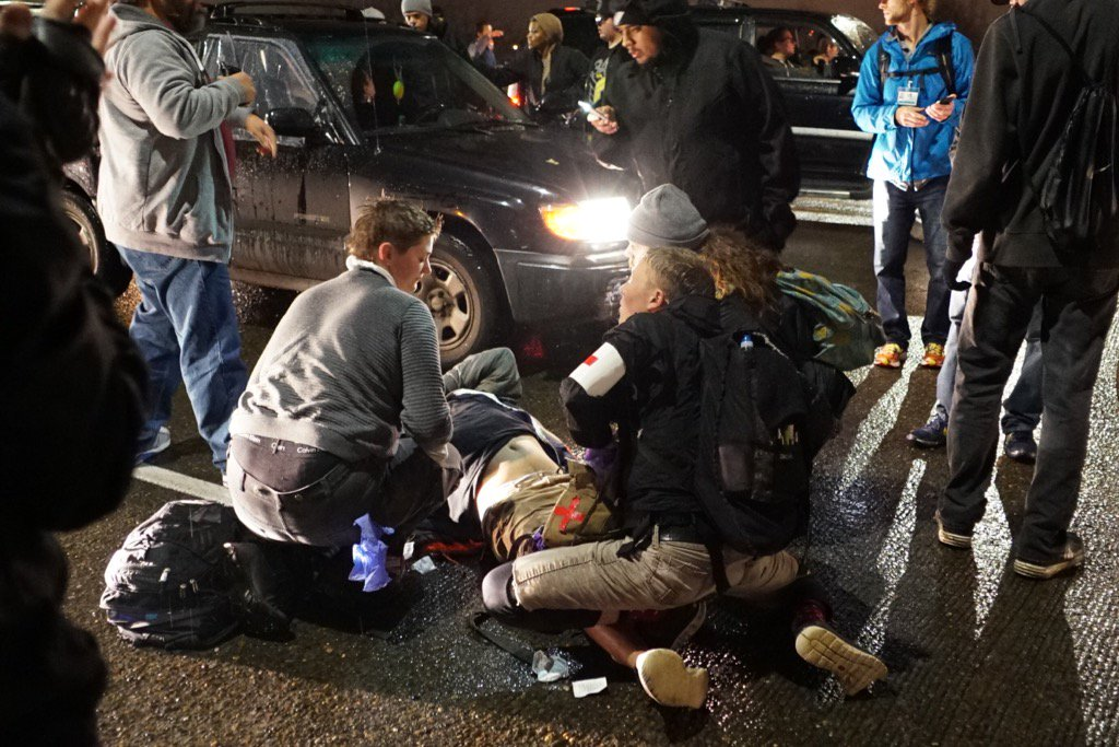 Shooting at anti-Trump Protest in Portland. 'African-American male' Suspected (Photo, Video)