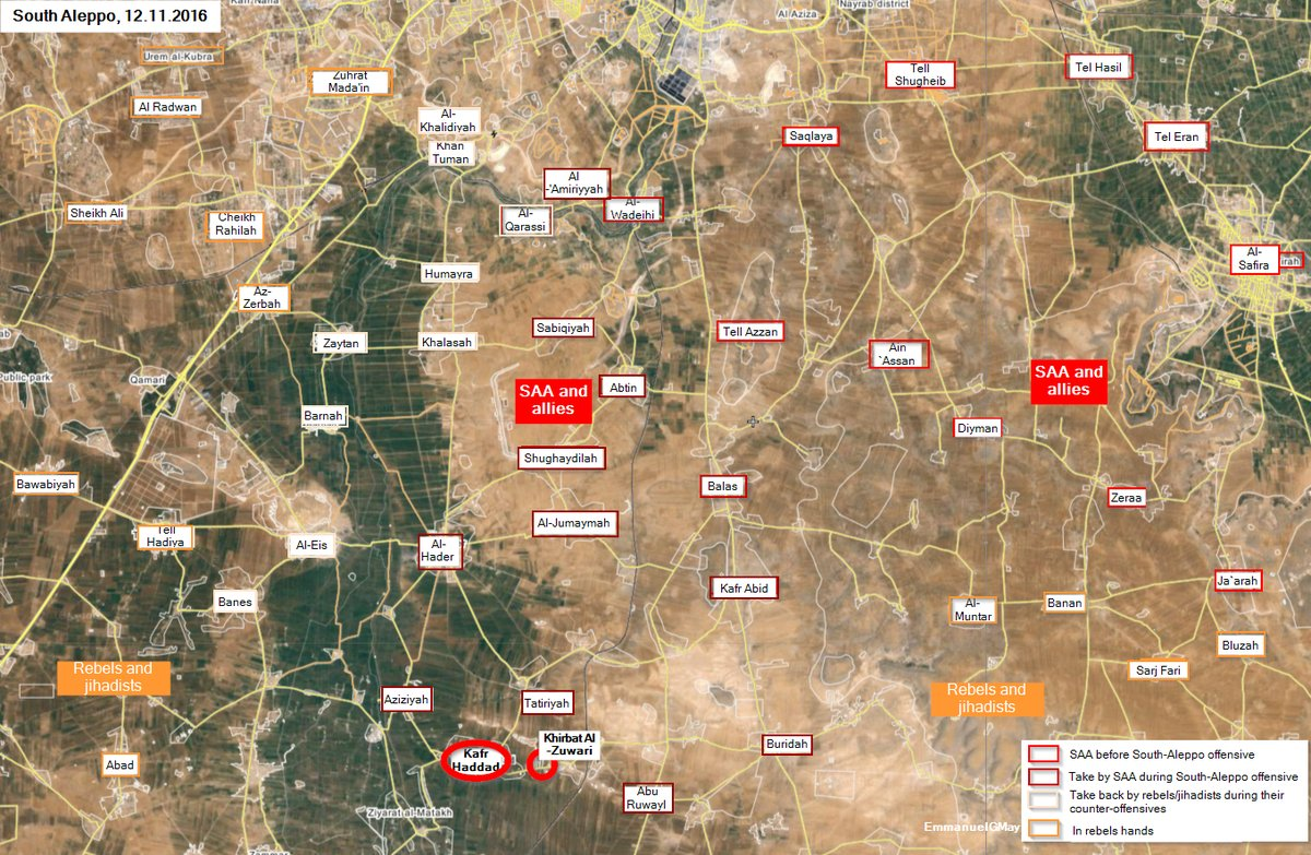 Overview of Military Situation in Aleppo City on November 13, 2016 (Maps, Videos, Photos)