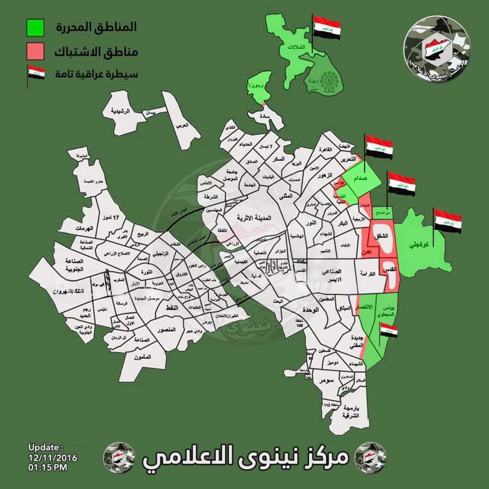 Iraq War Map Update: Current Military Situation in Mosul