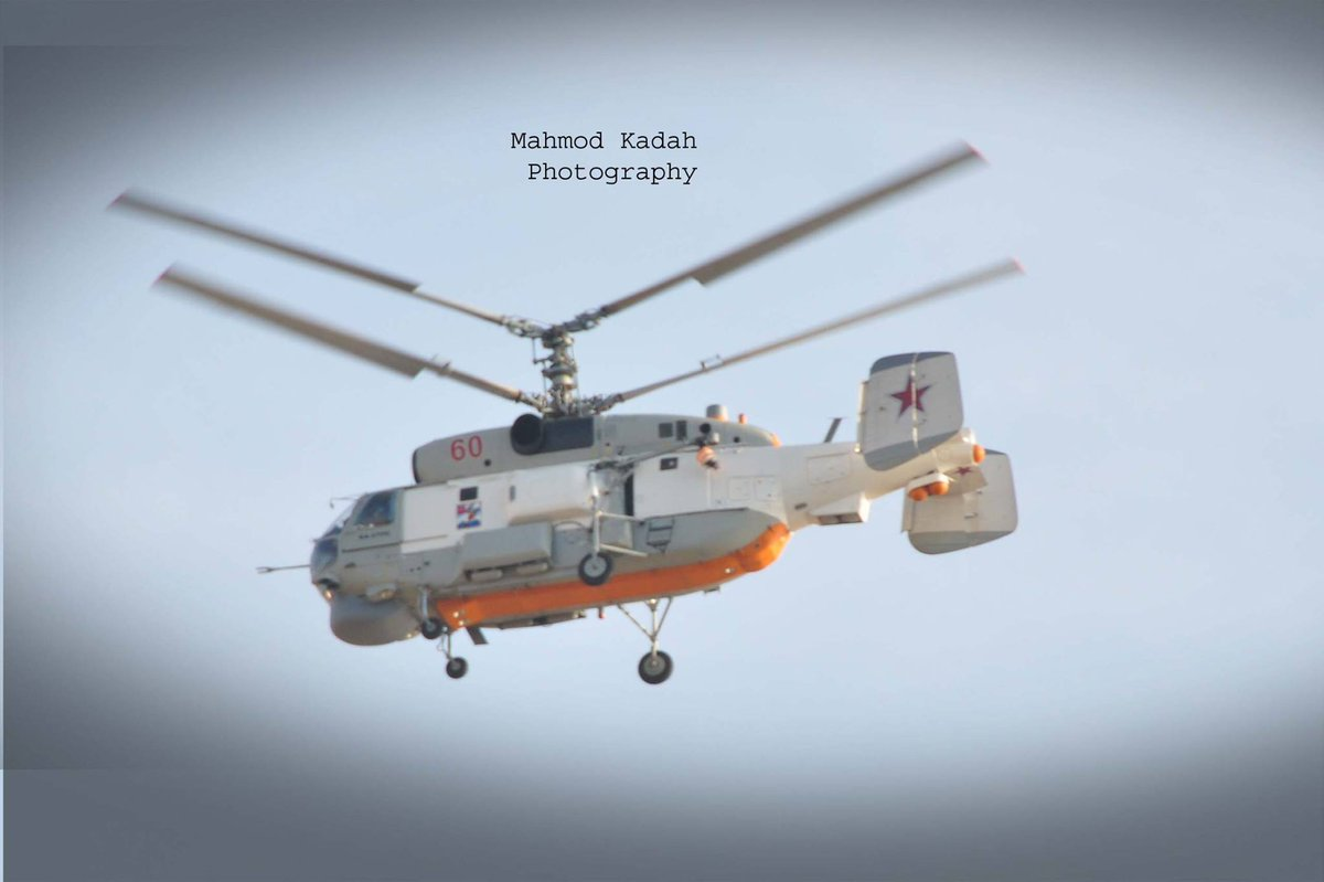 Ka-27 and Ka-29 Helicopters from Admiral Kuznetsov's Deck in Syrian Sky