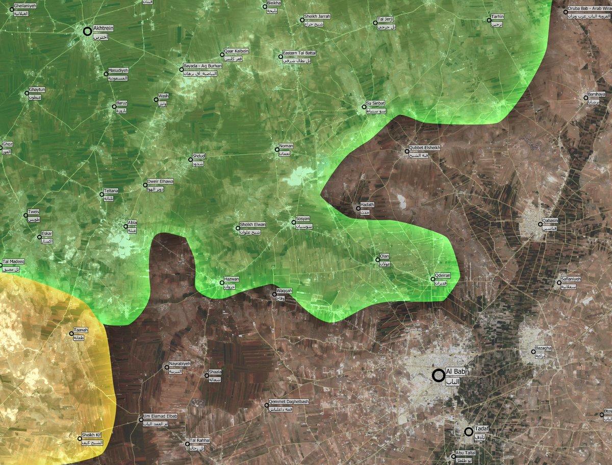 Turkey-led Forces Clashing with ISIS near Al-Bab
