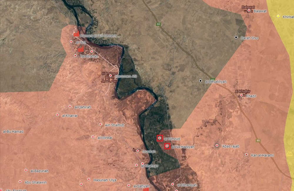 Iraqi Security Forces Liberate Nimrud, Na'maniyah Villages from ISIS Southeast of Mosul