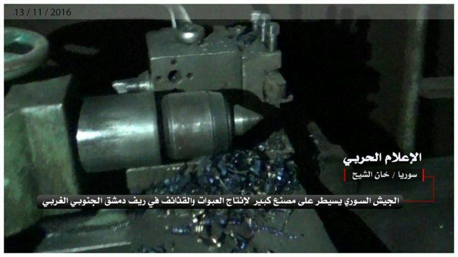Syrian Army Seized al-Nusra(al-Qaeda) Weapons Factory in Western Ghouta (Video)