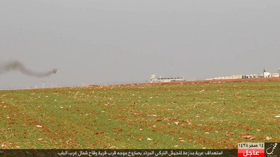 ISIS Destroys Another Turkish Battle Tank near al-Bab