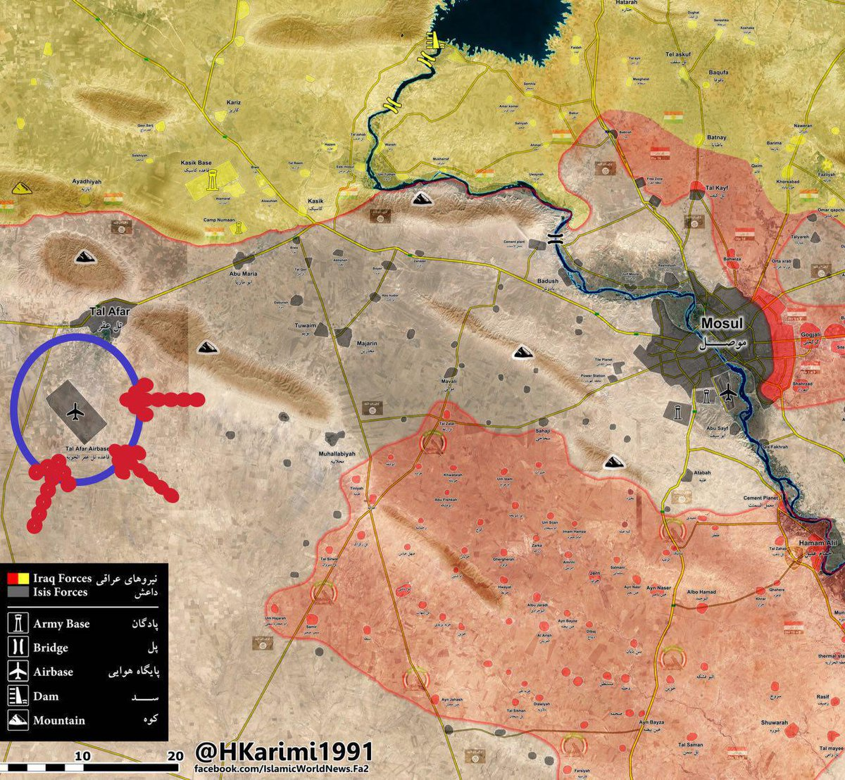 Iraqi Popular Mobilization Units Advancing on Tal Afar Airport West of Mosul