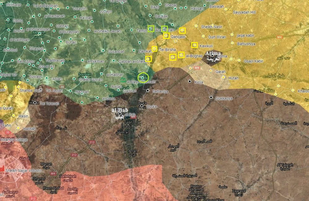 Turkey-led Forces and Kurdish YPG Compete in Al-Bab Countryside