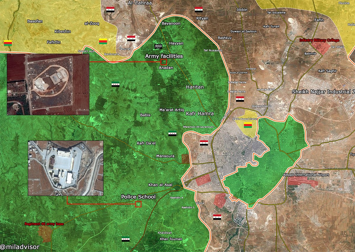Overview of Military Situation in Aleppo City on November 21, 2016