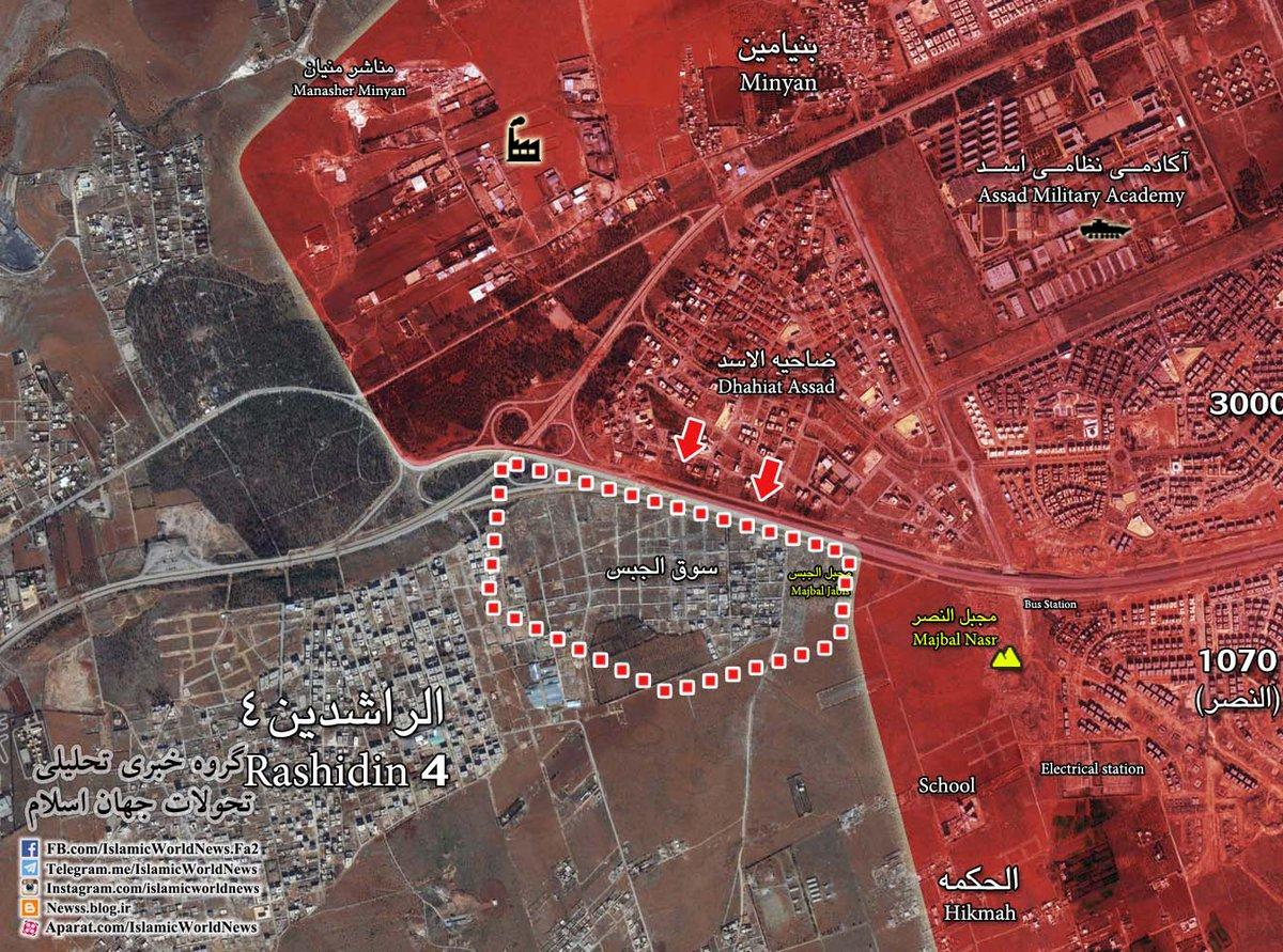 Syrian Army Clashing with Jaish al-Fatah in Aqrab Area in Western Aleppo