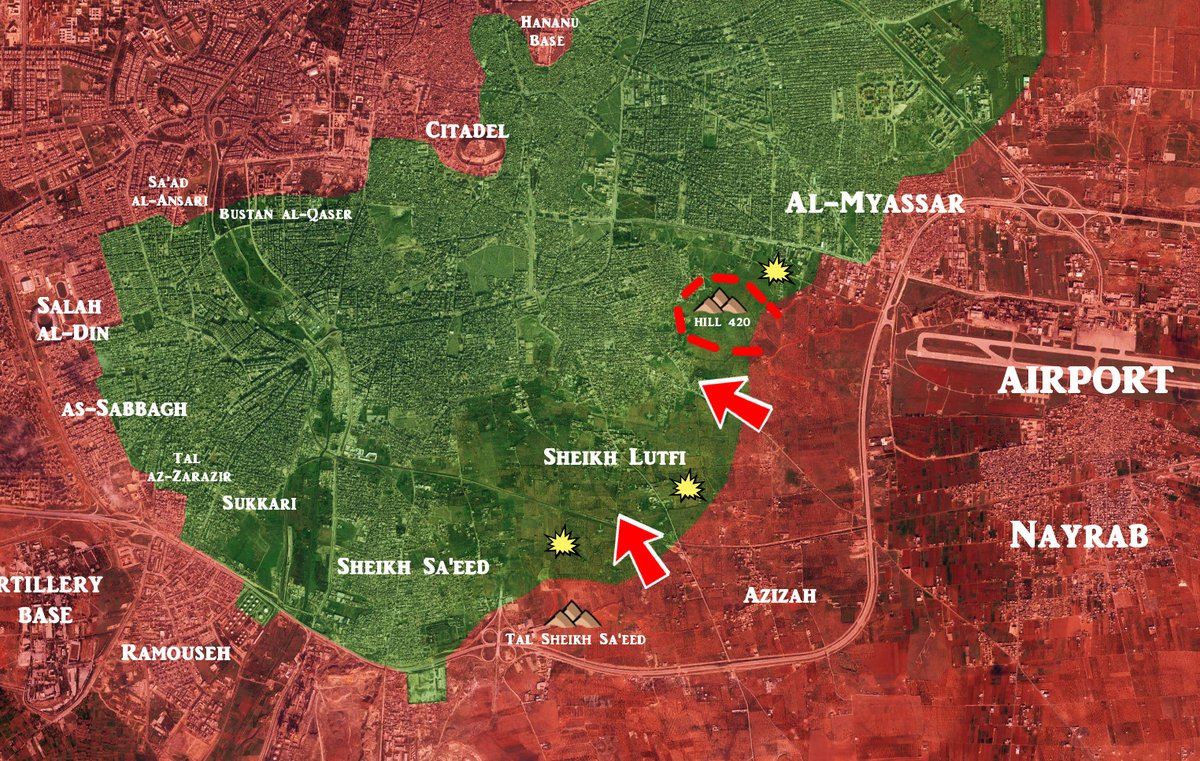 Syrian Army Takes Control of Strategic Hill in Southeast Aleppo