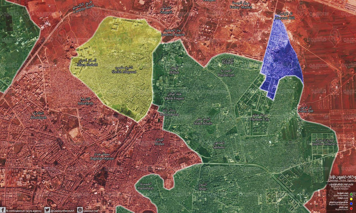 Overview of Military Situation in Aleppo City on November 25, 2016