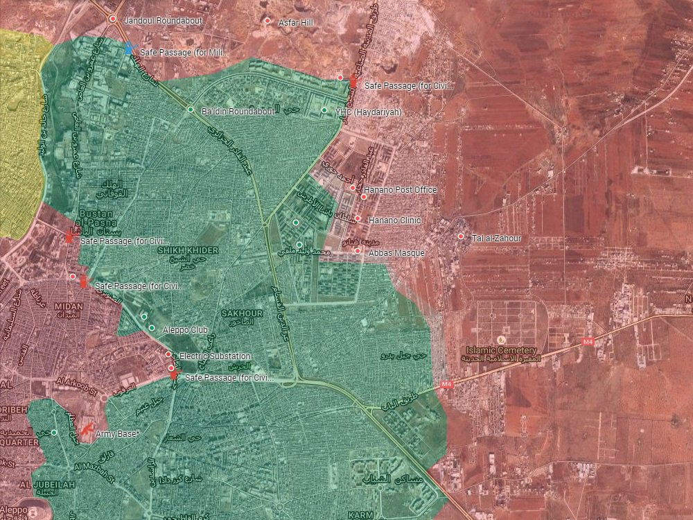 Overview of Military Situation in Aleppo City on November 26, 2016