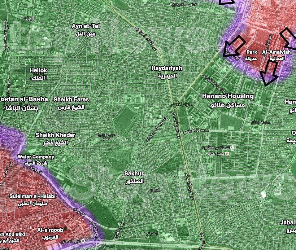 Military situation after liberation of the Hanano Housing
