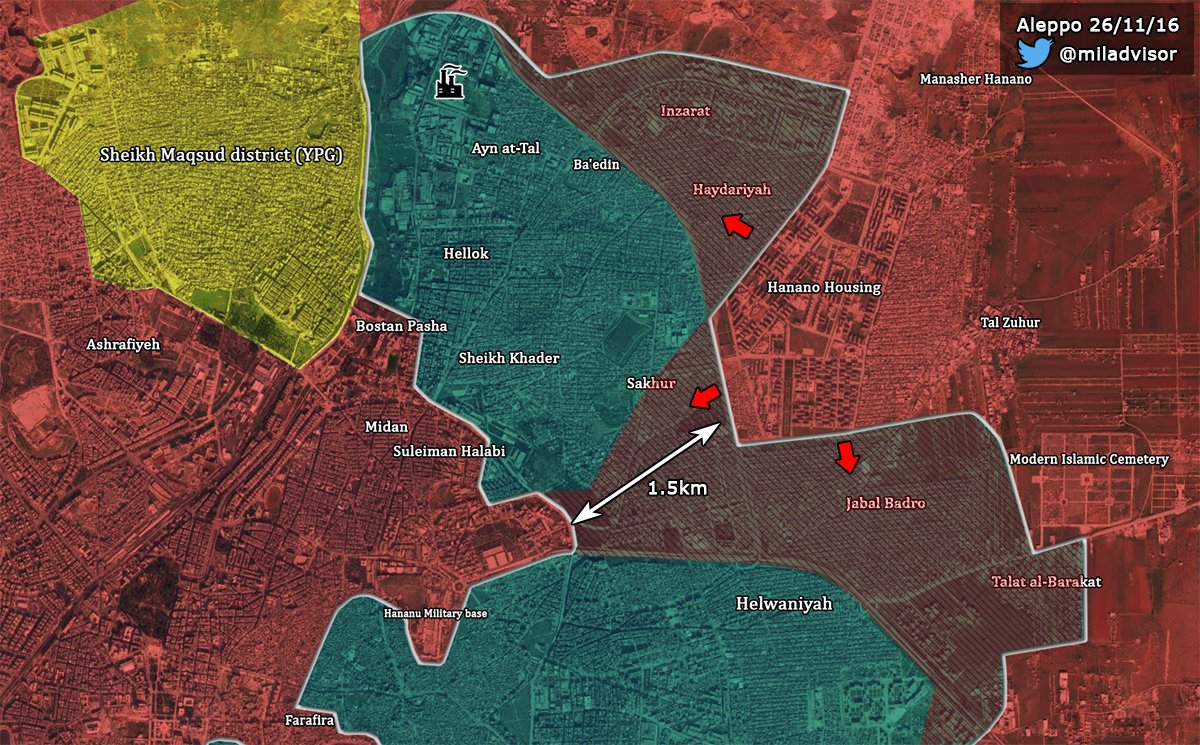 Al-Nusra (al-Qaeda) Defenseses Collapse, Syrian Army Ready to Split Eastern Aleppo Pocket into Two