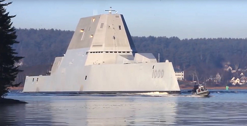 US Zumwalt Super Destroyer May Stay Without Projectiles