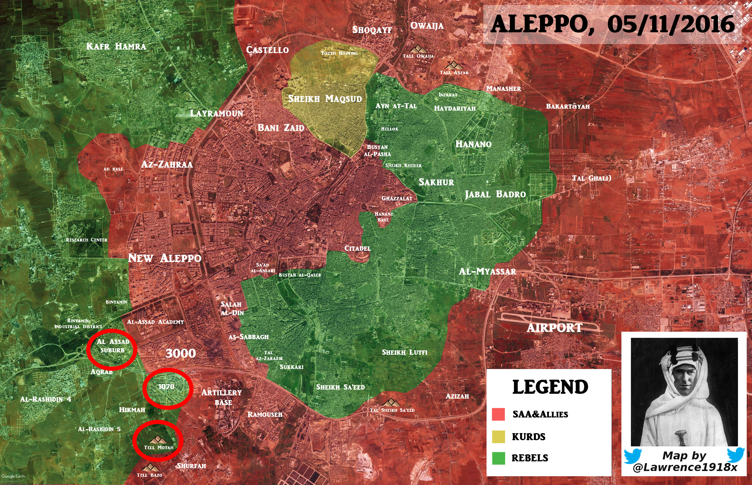 Overview of Military Situation in Aleppo City on November 7, 2016