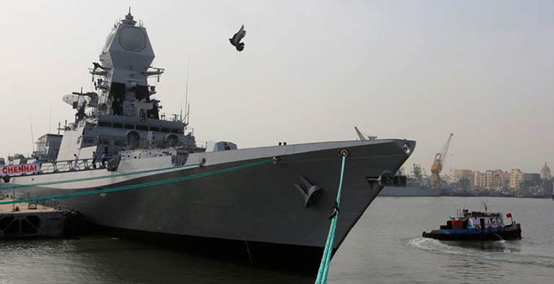 Largest Indian Warship INS Chennai Commissioned in Mumbai