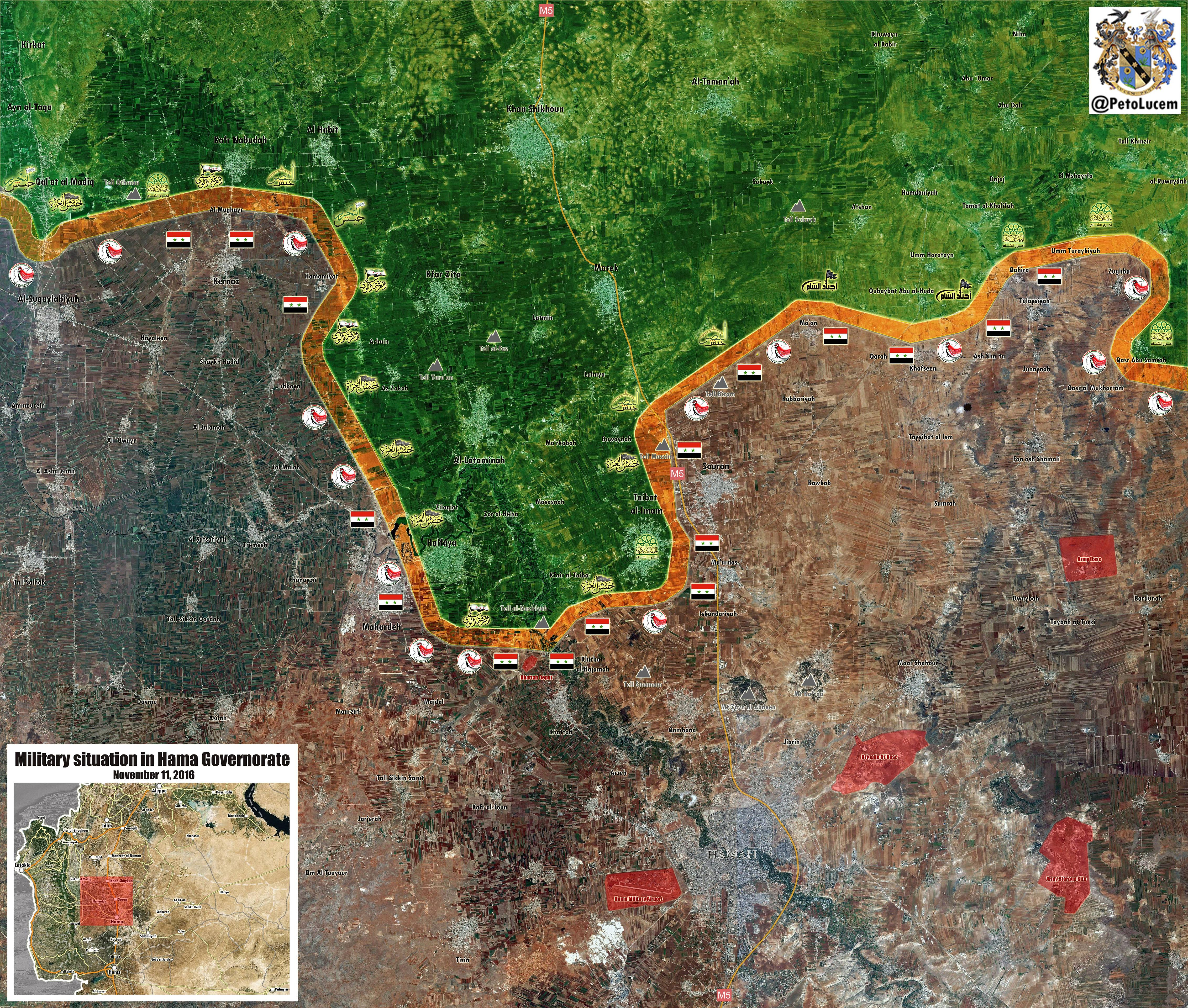 Syrian Government Forces Purging Terrorists in Northen Hama