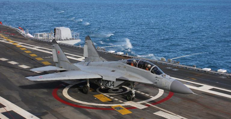 Russian MiG-29K from Admiral Kuznetsov Heavy Aircraft-Carrying Missile Cruiser Crashed in Mediterranean