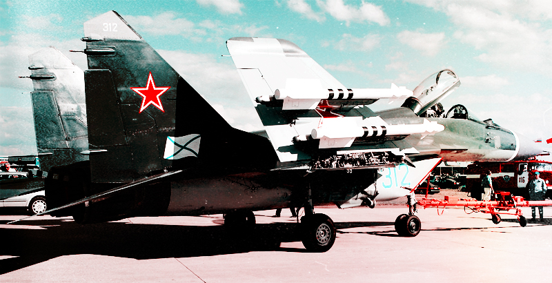 MiG-29K Multirole Fighters from Admiral Kuznetsov's Deck Fly over Idlib Province (Video)