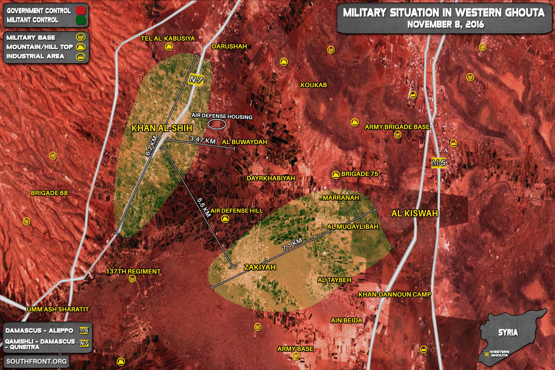 Al-Nusra (Al-Qaeda) Defenses On Brink of Collapse at Khan al-Shih in Western Ghouta