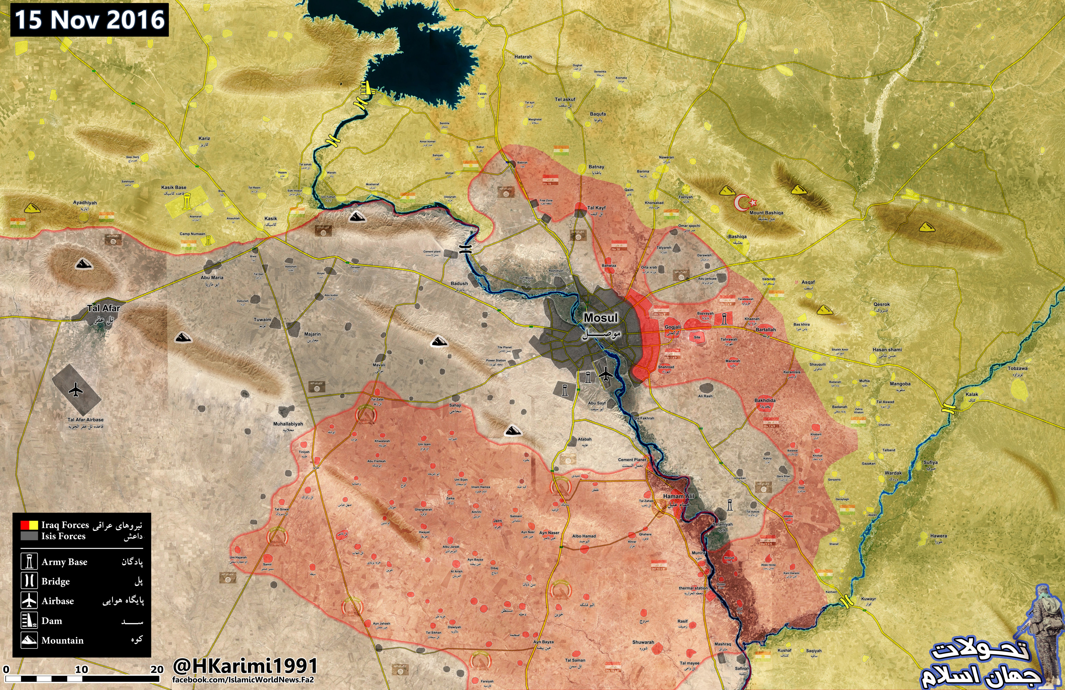 Iraq War Map Update: Current Military Situation in Mosul Countryside