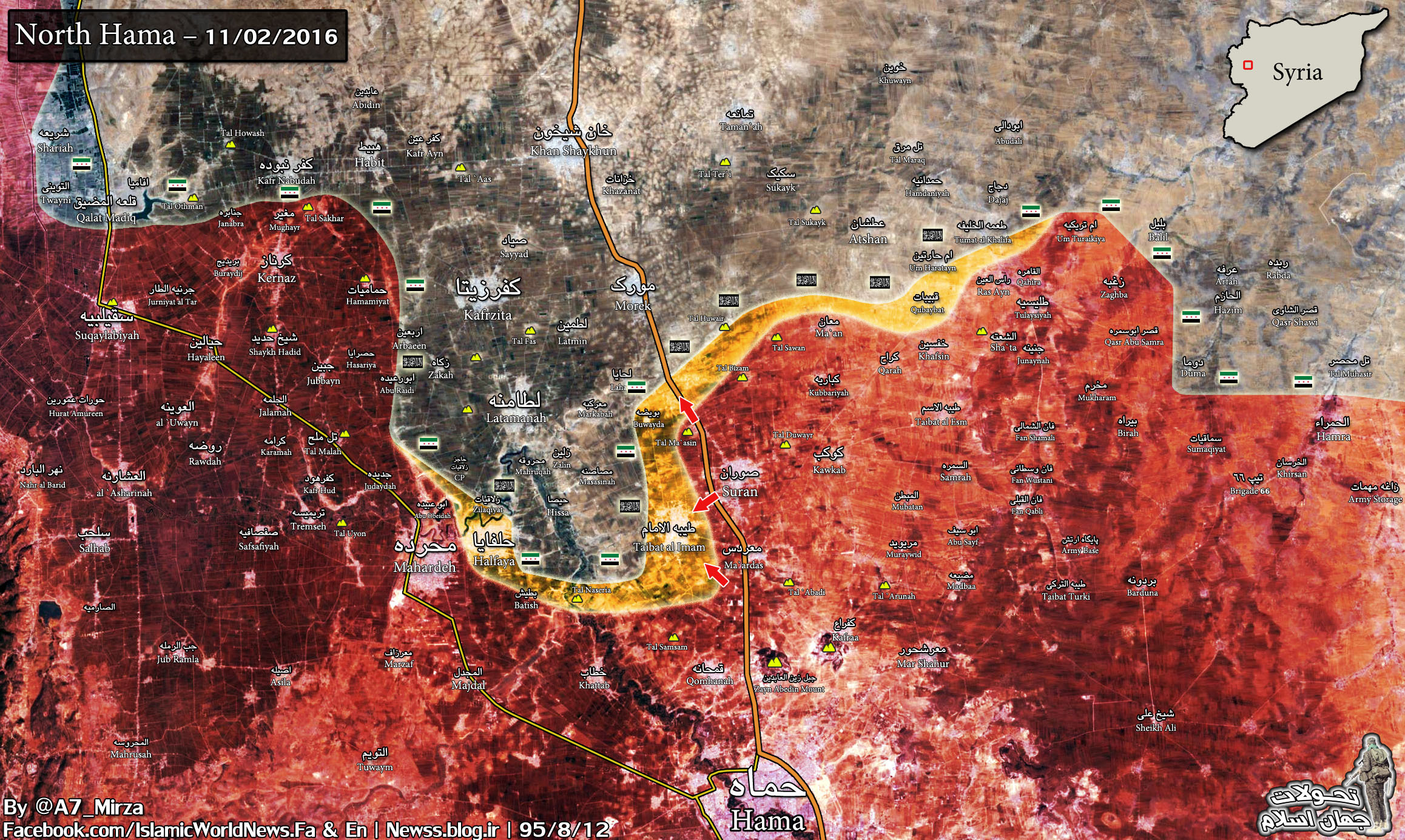 Syrian Govt Forces Liberate More Areas along Aleppo-Hama Highway