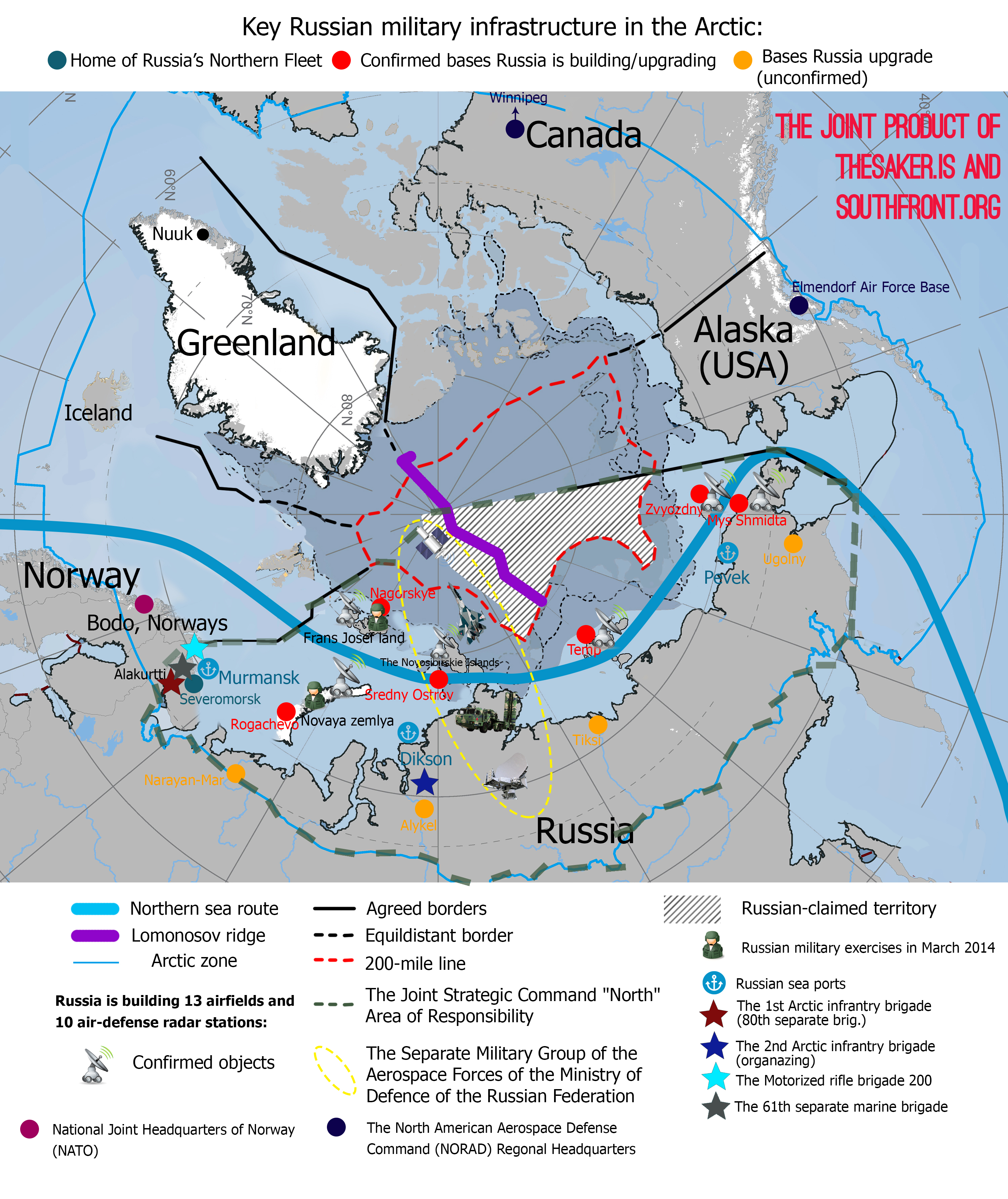 Building Its Th AntiStealth Radar System In Arctic - Russia us map