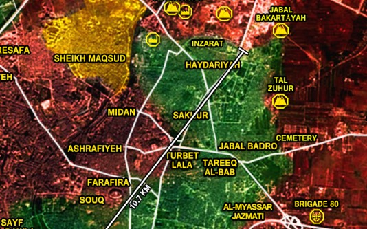 Footage: Government Forces Are in Control of Zuhur Hill in Eastern Aleppo