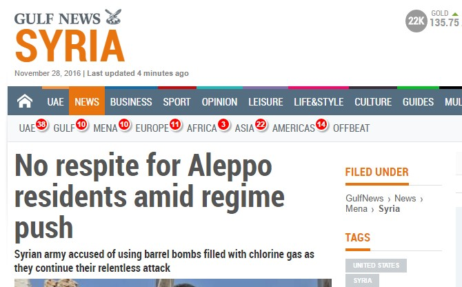 Mainstream Media Is in Outrage as Government Forces Liberating Northeastern Aleppo and Freeing Civilians Held there As Hostages