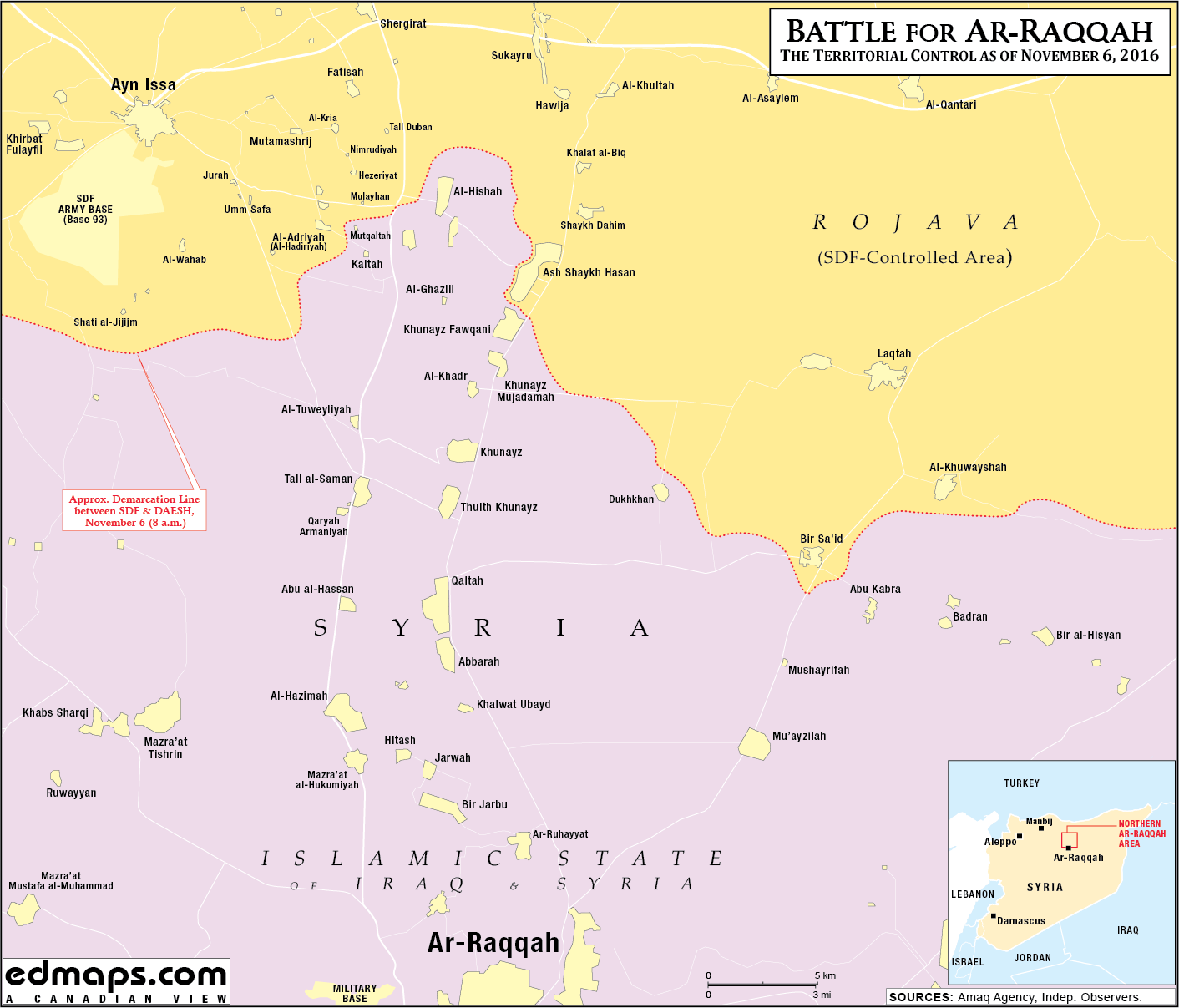 Troops Kurdish Militias Advance On Raqqa Photos Map Infographics - Map of area that us forces control in syria