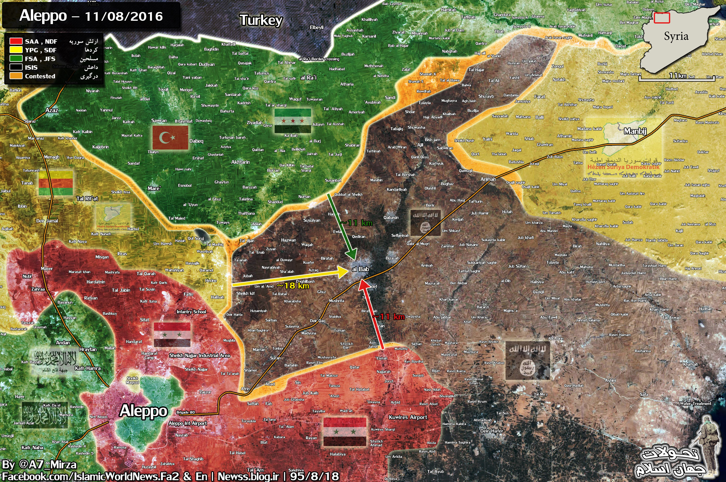Race for Al-Bab and Military Situation in Northern Syria