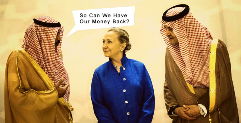 Hillary Is No More Best Friend of Saudi Arabia?