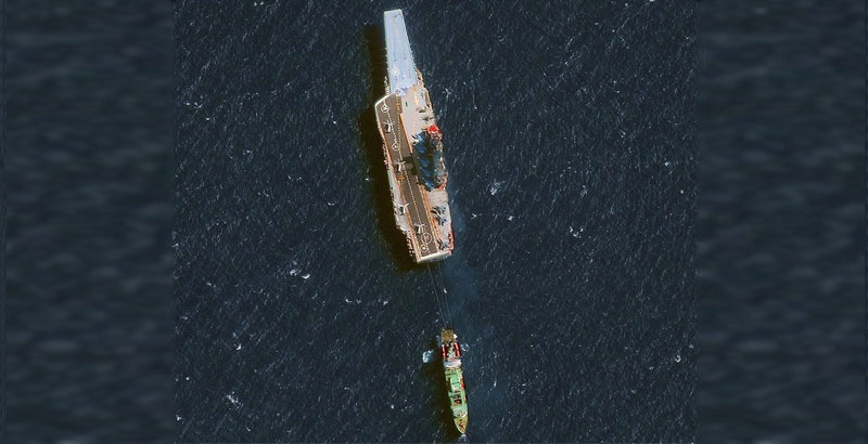 What Happened to Admiral Kuznetsov: Photo of Towing of Russian Aircraft Carrier Published Online