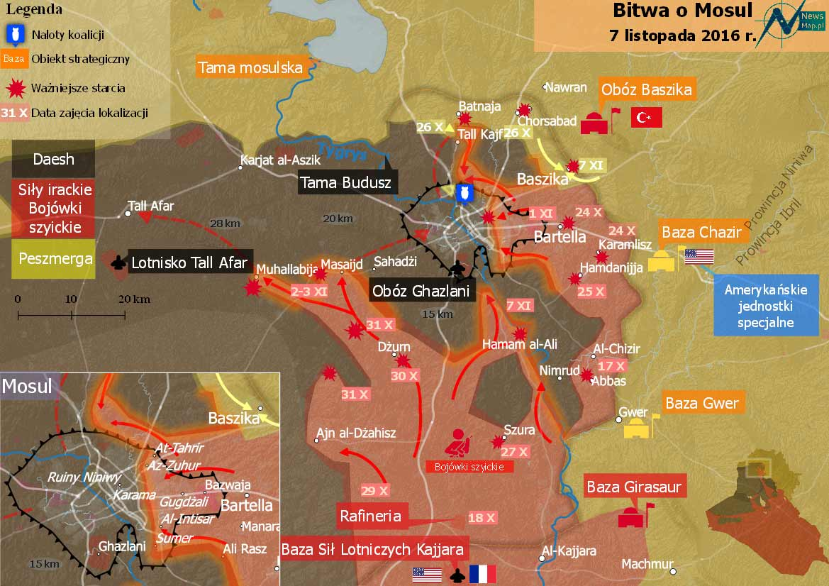 Iraqi Army Claims 12 Districts of Mosul Captured