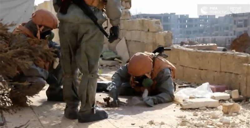 Russian MoD Finds Evidence of Terrorists' Usage of Chemical Weapons in Aleppo