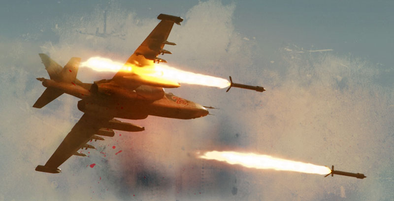 Russian & Syrian Fighter Jets Strike Terrorists' Supply Rout in Idlib