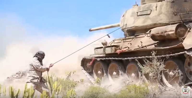 Soviet T-34 Tank Spotted during Fighting in Yemen (Video)
