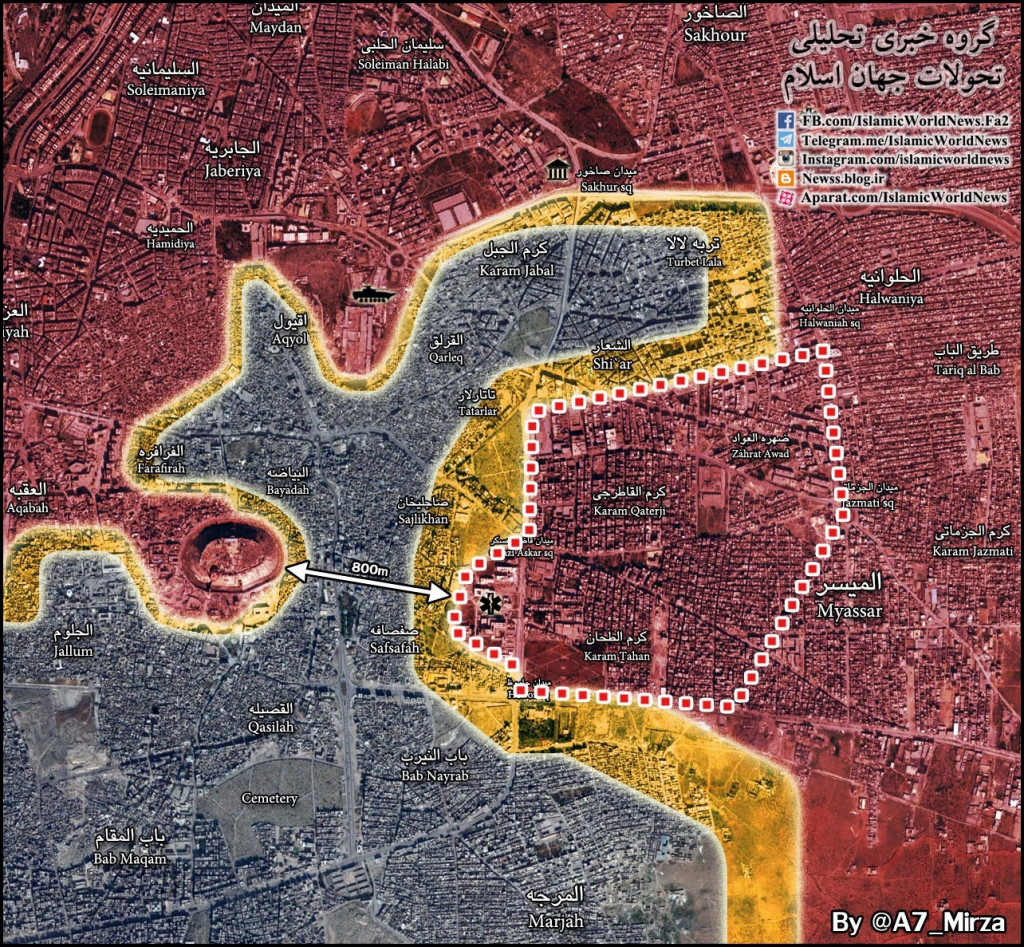 Syrian Army Liberates More Areas of Aleppo City, Aims to Split Remaining Rebel-Held Areas Into Two Parts Again