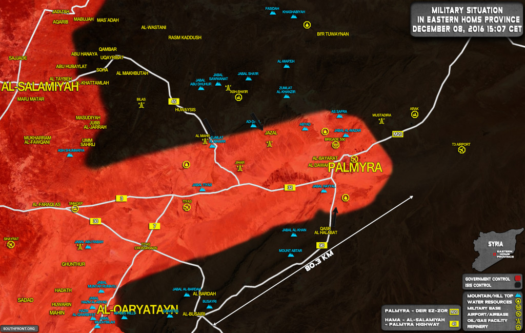 ISIS Achieves Significant Gains Near Palmyra, Continues Advance