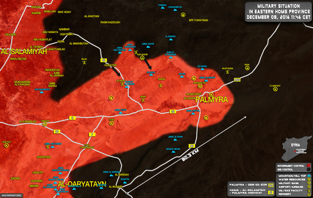 ISIS Launches Large-Scale Attack On Syrian Govt Forces Near Palmyra, Claims To Kill 60 Soldiers