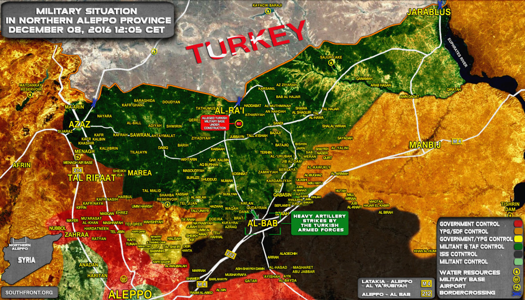 Ankara-led Forces Storming Syria's Al-Bab. 6 Turkish Soldiers Wounded