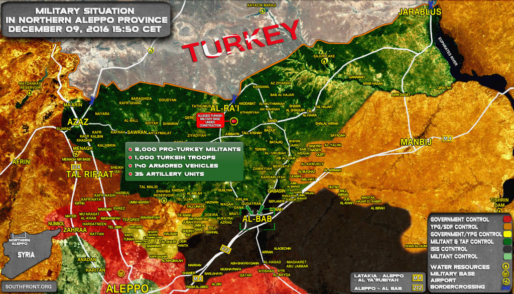 Turkey Deployed Some 9,000-Strong Force To Seize Al-Bab In Syria's Aleppo Province